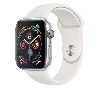 Apple Watch Series 4 40 mm GPS + Cellular Sport (biały)