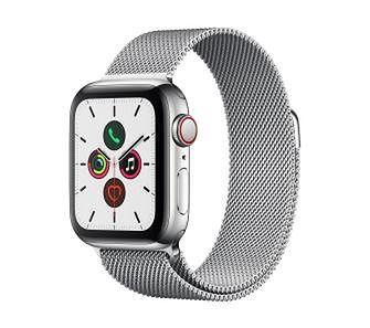Apple Watch Series 5 40 mm GPS + Cellular (srebrny)