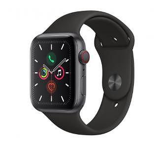 Apple Watch Series 5 44 mm GPS + Cellular Sport (czarny)