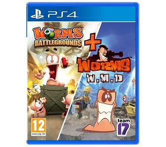 Pakiet Worms (Worms Battlegrounds + Worms W.M.D. ) PS4