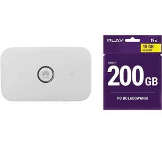 Huawei E5573C (biały) + Starter Play 10GB