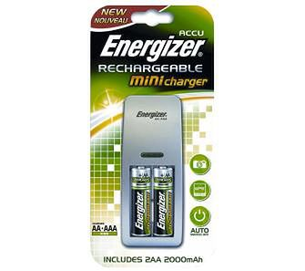 Energizer Mini Charger + 2 akumulatory AA 2000 mAh