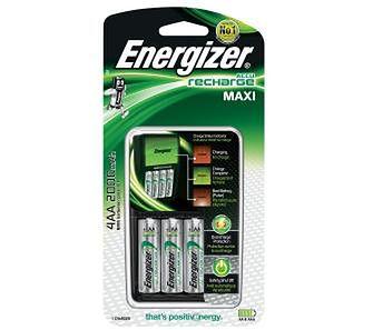 Energizer Maxi + 4 akumulatory AA 2000 mAh