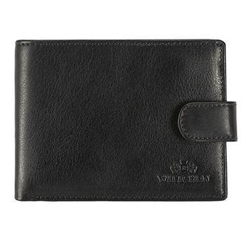 Męski portfel skórzany z przezroczystym panelem