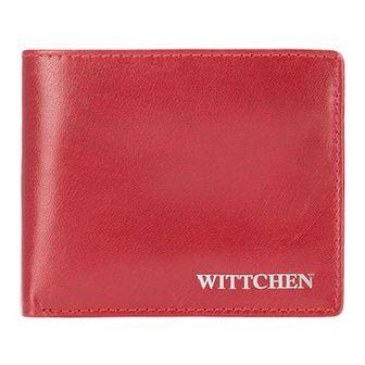 Damski portfel skórzany z metalowym logo mały