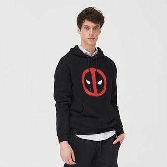 Sinsay - Bluza z nadrukiem Deadpool - Czarny