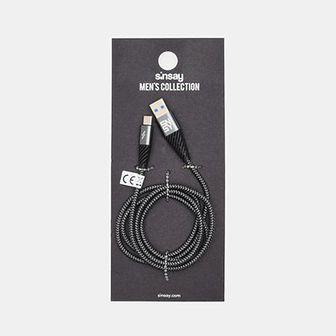 Sinsay - Kabel USB typu C - Czarny
