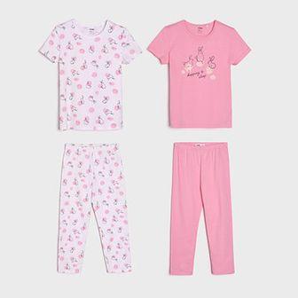 Sinsay - Piżamy 2 pack - Różowy