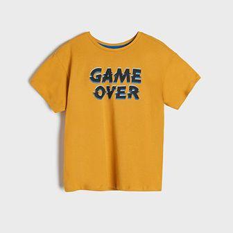 Sinsay - Koszulka z nadrukiem - Żółty