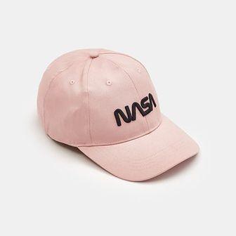Sinsay - Czapka z daszkiem NASA - Różowy