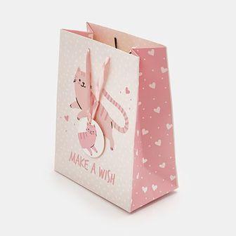 Sinsay - Torba prezentowa S - Różowy