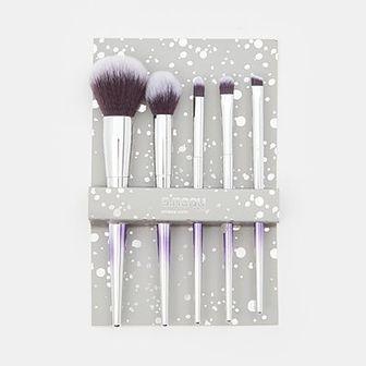 Sinsay - Zestaw pędzli do makijażu 5 pack - Srebrny