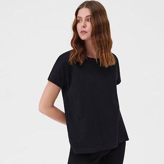 Sinsay - Koszulka loose fit - Czarny