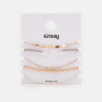 Sinsay - Bransoletki 5 pack - Wielobarwny