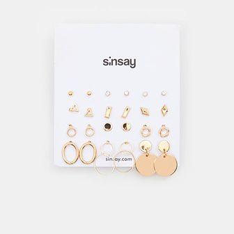 Sinsay - Kolczyki 12 pack - Złoty