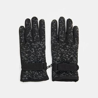Sinsay - Rękawiczki zapinane na rzep - Czarny