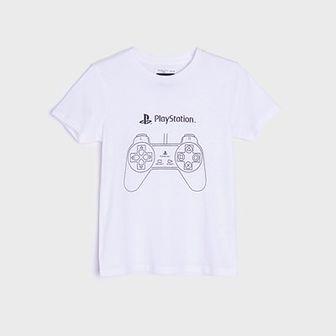Sinsay - Koszulka Playstation - Biały