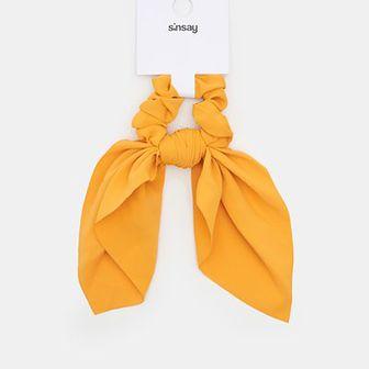 Sinsay - Gumka do włosów - Żółty