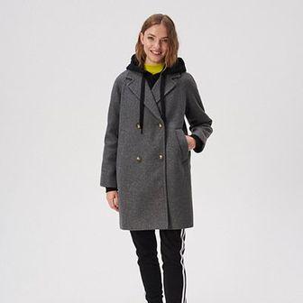Sinsay - Płaszcz z raglanowymi rękawami - Szary