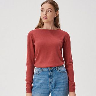 Sinsay - Sweter basic - Fioletowy
