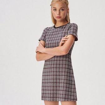 Sinsay - Wzorzysta sukienka mini - Różowy