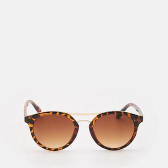 Sinsay - Okulary przeciwsłonecznez z barwioną oprawką - Brązowy