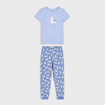 Sinsay - Piżama dwuczęściowa - Niebieski