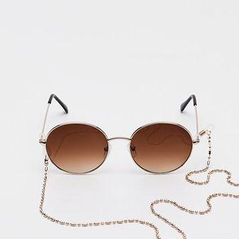 Sinsay - Okulary przeciwsłoneczne - Beżowy