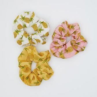 Sinsay - Gumki do włosów w ananasy - Wielobarwny
