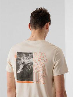 T-shirt regular z nadrukiem męski
