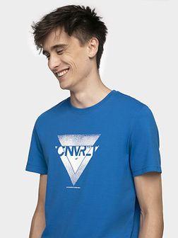 T-Shirt męski TSM203 - kobalt