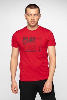 T-shirt męski TSM004 - czerwony