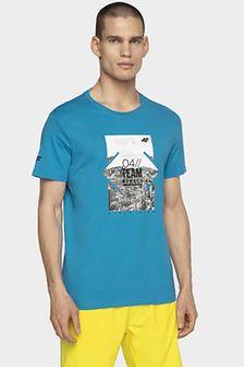 T-shirt męski TSM013 - niebieski