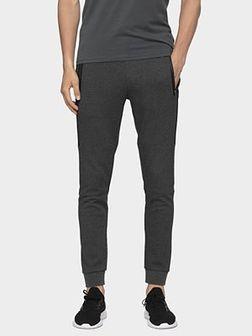Spodnie dresowe męskie SPMD006 - ciemny szary melanż