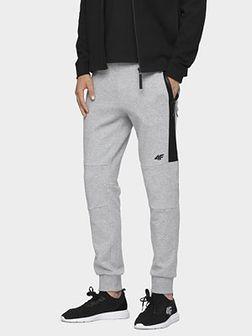 Spodnie dresowe męskie SPMD070 - chłodny jasny szary melanż