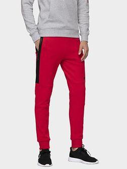 Spodnie dresowe męskie SPMD070 - czerwony