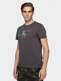 T-shirt męski TSM077 - ciemny szary