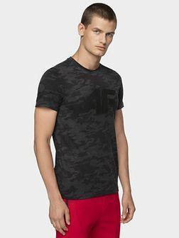 T-shirt męski TSM078 - czarny allover