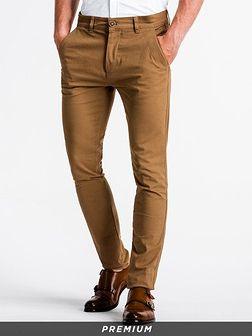Spodnie męskie chino P830 - camel