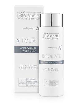 X – FOLIATE Anti Wrinkle Tonik kwasowy do skóry dojrzałej 200ml