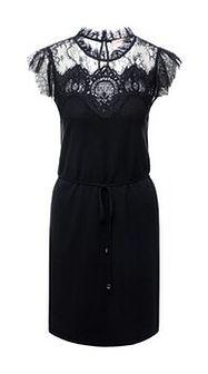 TwinSet Sukienka koktajlowa 191TT3030 Czarny Regular Fit