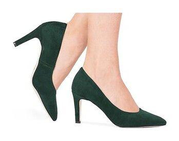 Klasyczne damskie szpilki Elvira zielone