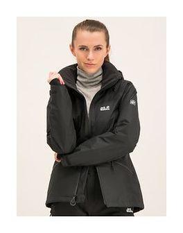 Jack Wolfskin Kurtka outdoor Powder Jacket 1111631-6000 Czarny Regular Fit