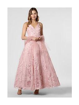 Unique - Damska sukienka wieczorowa z etolą, lila