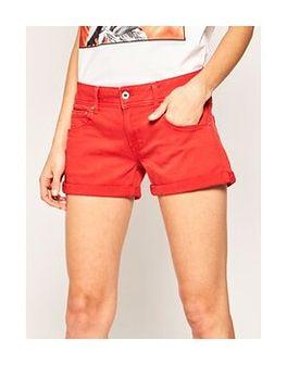 Pepe Jeans Szorty jeansowe Siouxie PL800685 Pomarańczowy Regular Fit
