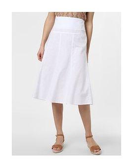 Franco Callegari - Spódnica damska z dodatkiem lnu, biały