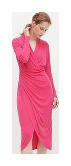 Reserved - Drapowana sukienka - Różowy
