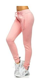 Jasnoróżowe spodnie dresowe damskie Denley CK-01-38