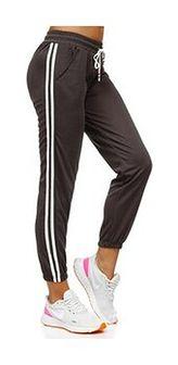 Grafitowe spodnie dresowe damskie Denley YW01020D