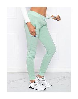 Spodnie damskie dresowe 001PLR - miętowe